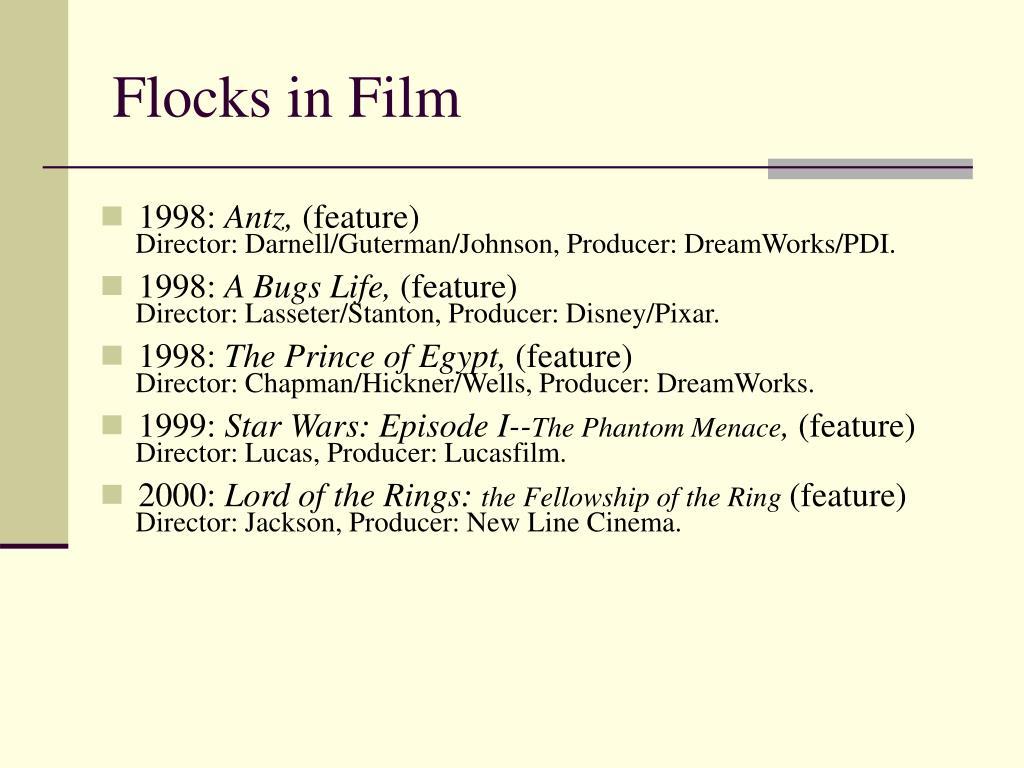 Flocks in Film