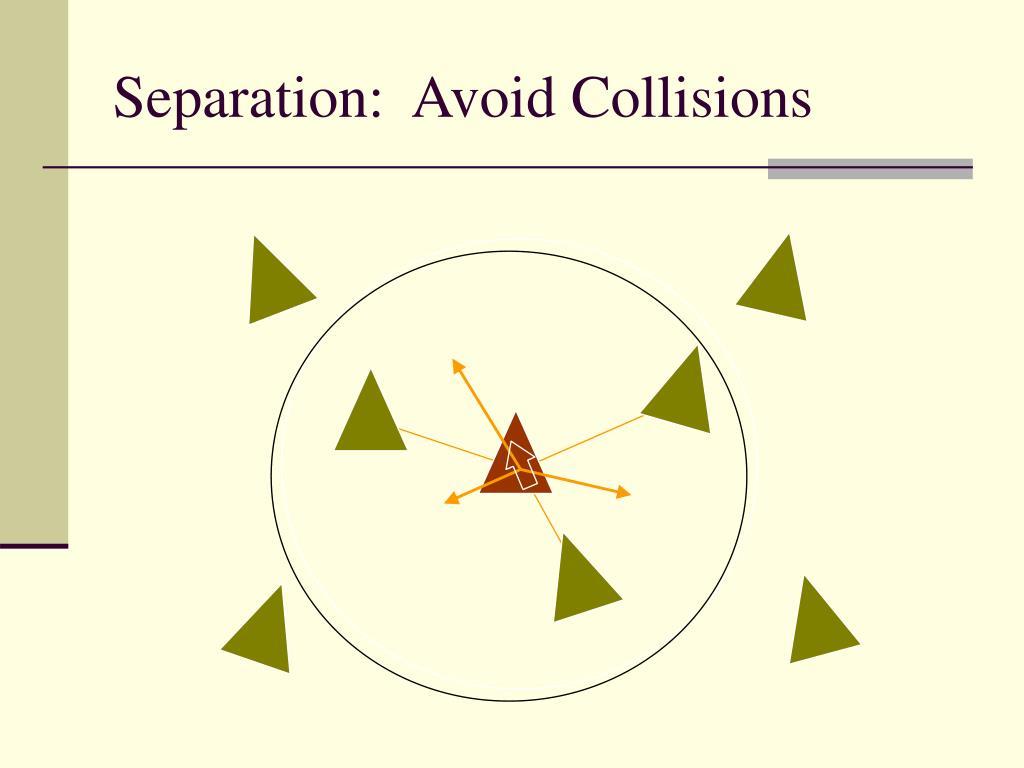 Separation:  Avoid Collisions