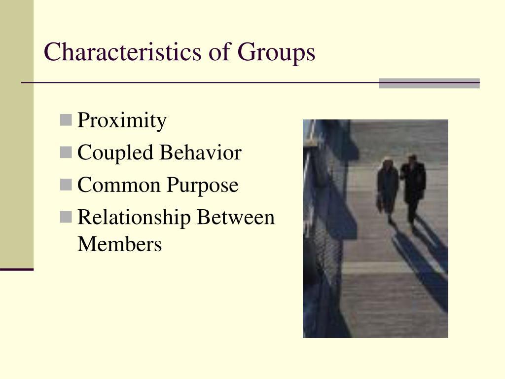 Characteristics of Groups