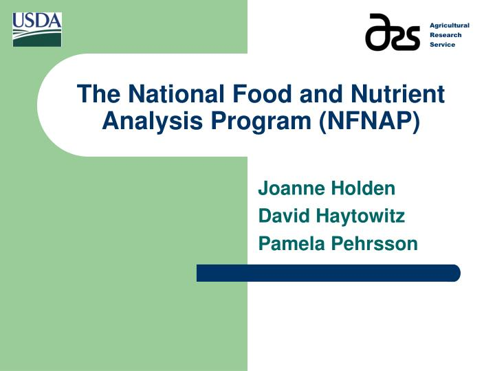the national food and nutrient analysis program nfnap n.