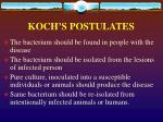 koch s postulates
