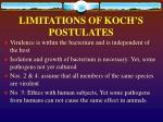 limitations of koch s postulates