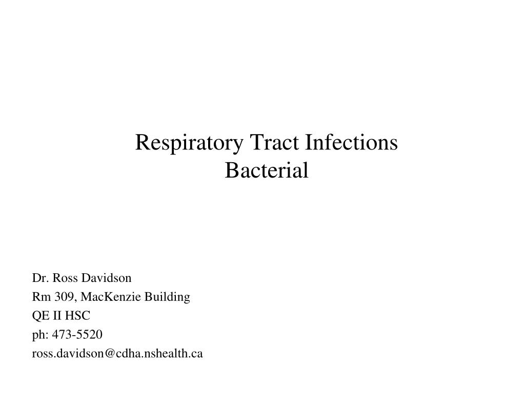 respiratory tract infections bacterial l.