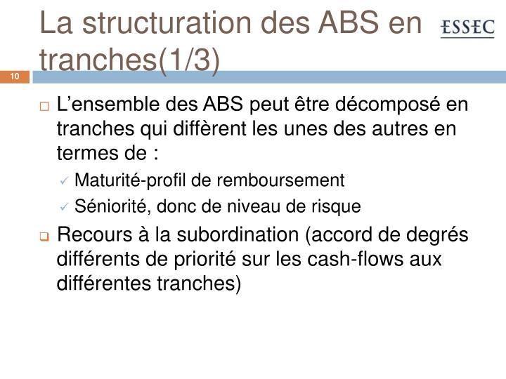 La structuration des ABS en tranches(1/3)