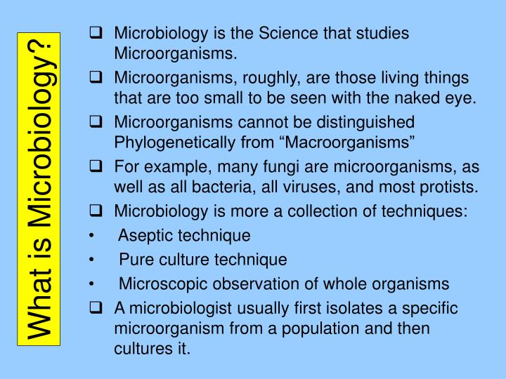 What is microbiology