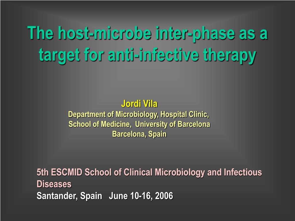 the host microbe inter phase as a target for anti infective therapy l.
