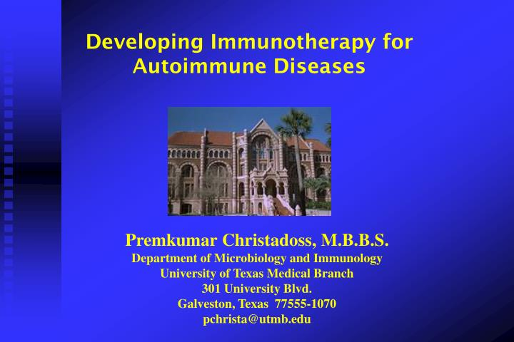 Developing Immunotherapy for Autoimmune Diseases