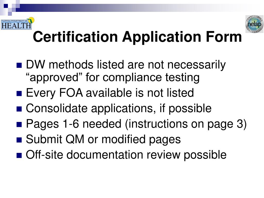 Certification Application Form