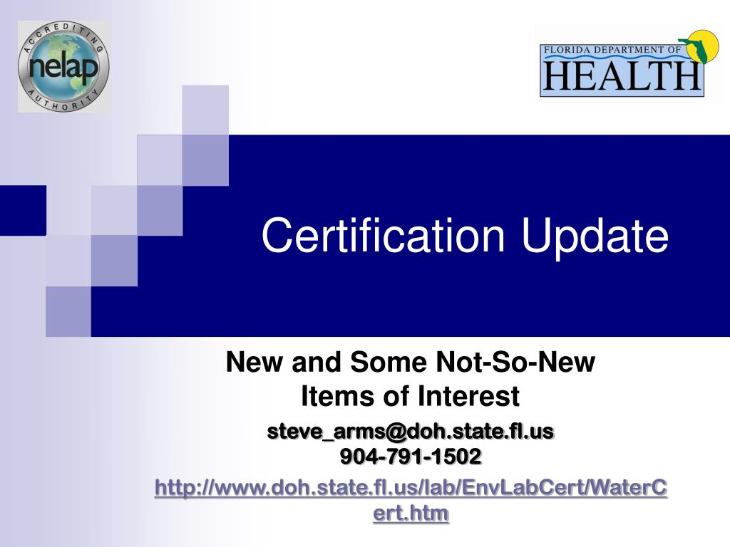 Certification Update