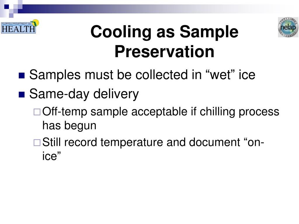 Cooling as Sample Preservation