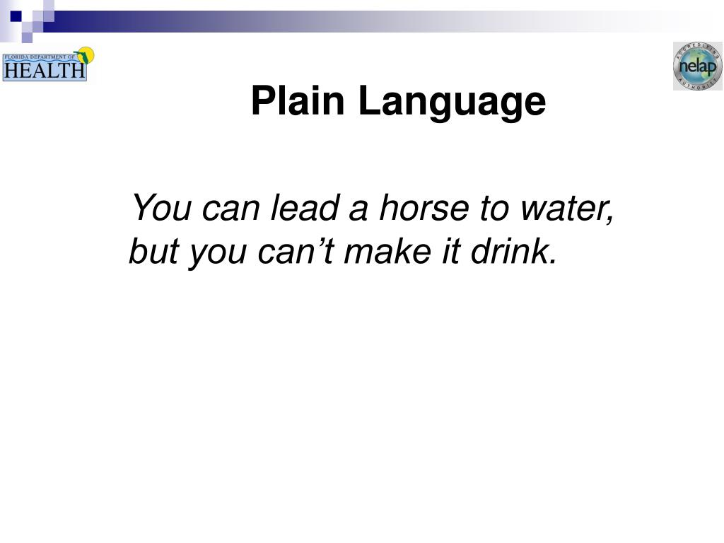 Plain Language