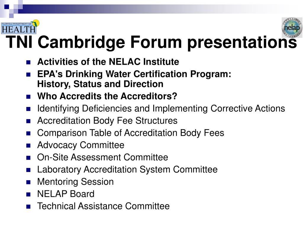 TNI Cambridge Forum presentations