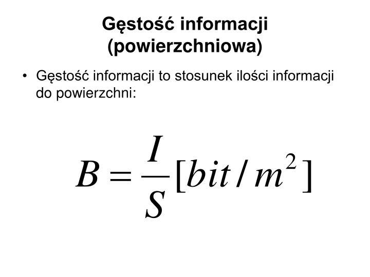 Gęstość informacji (powierzchniowa)