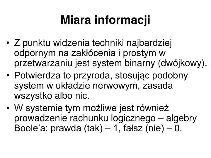 Miara informacji