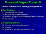 proposed degree format ii