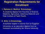 registration requirements for enrollment