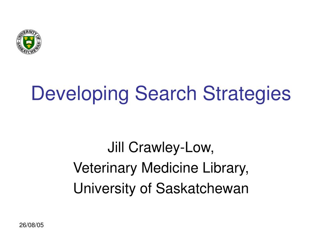 developing search strategies l.