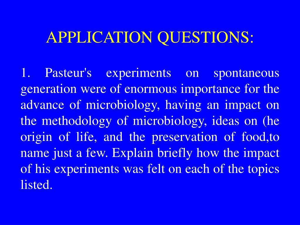 APPLICATION QUESTIONS: