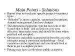 main points solutions