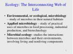 ecology the interconnecting web of life