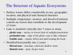 the structure of aquatic ecosystems