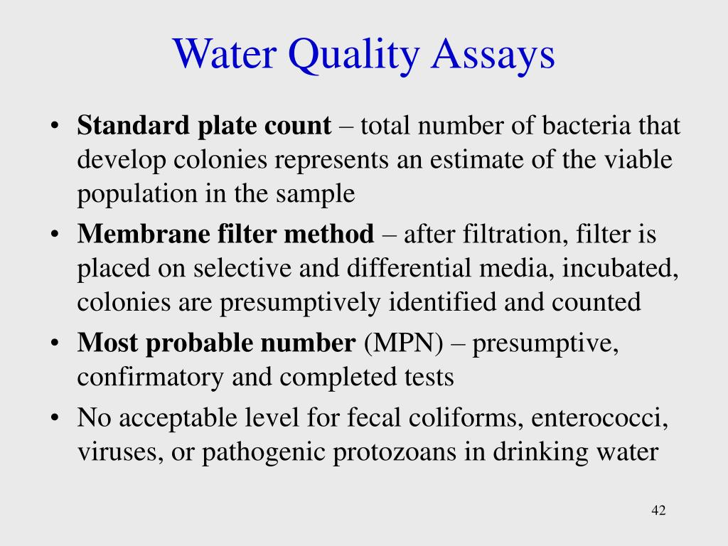 Water Quality Assays