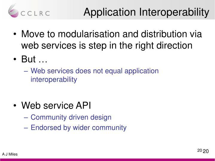 Application Interoperability
