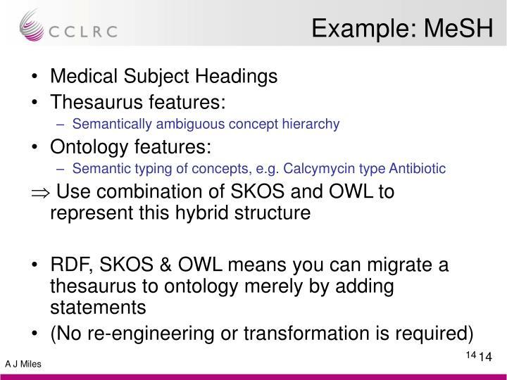 Example: MeSH