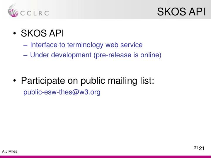 SKOS API