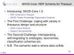 skos core rdf schema for thesauri