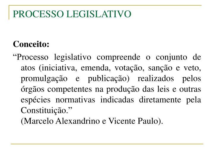 processo legislativo n.
