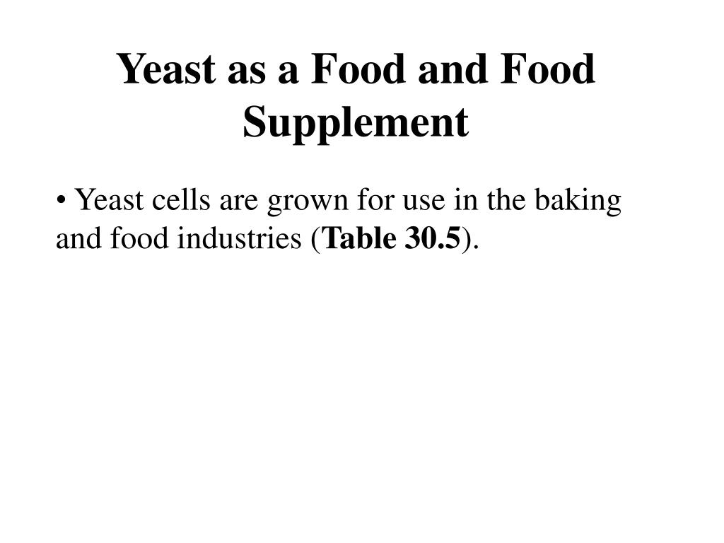 Yeast as a Food and Food Supplement