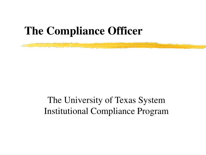 the university of texas system institutional compliance program n.