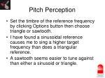 pitch perception