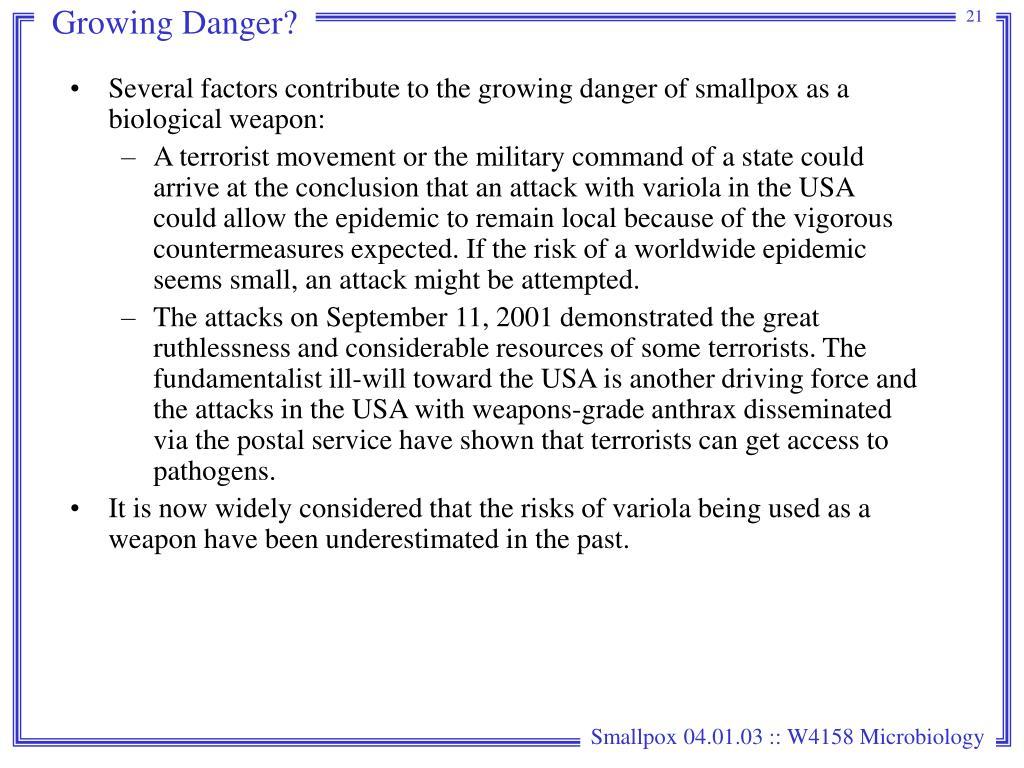 Growing Danger?