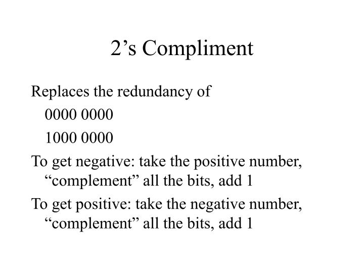 2's Compliment