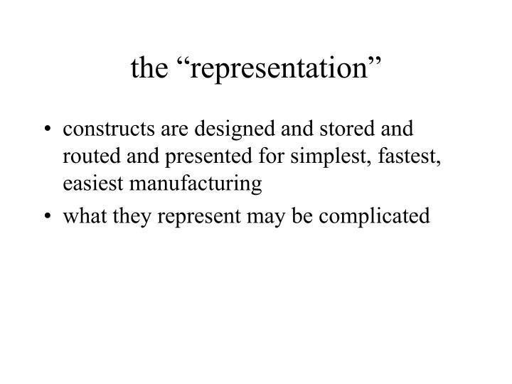 "the ""representation"""