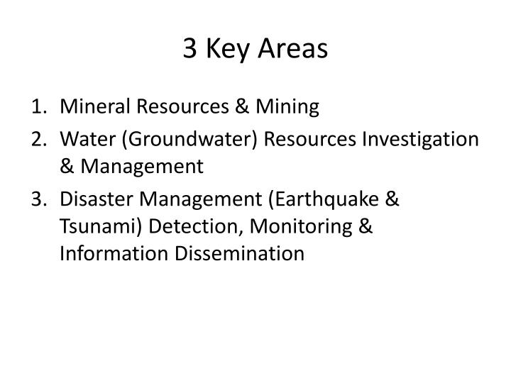 3 key areas