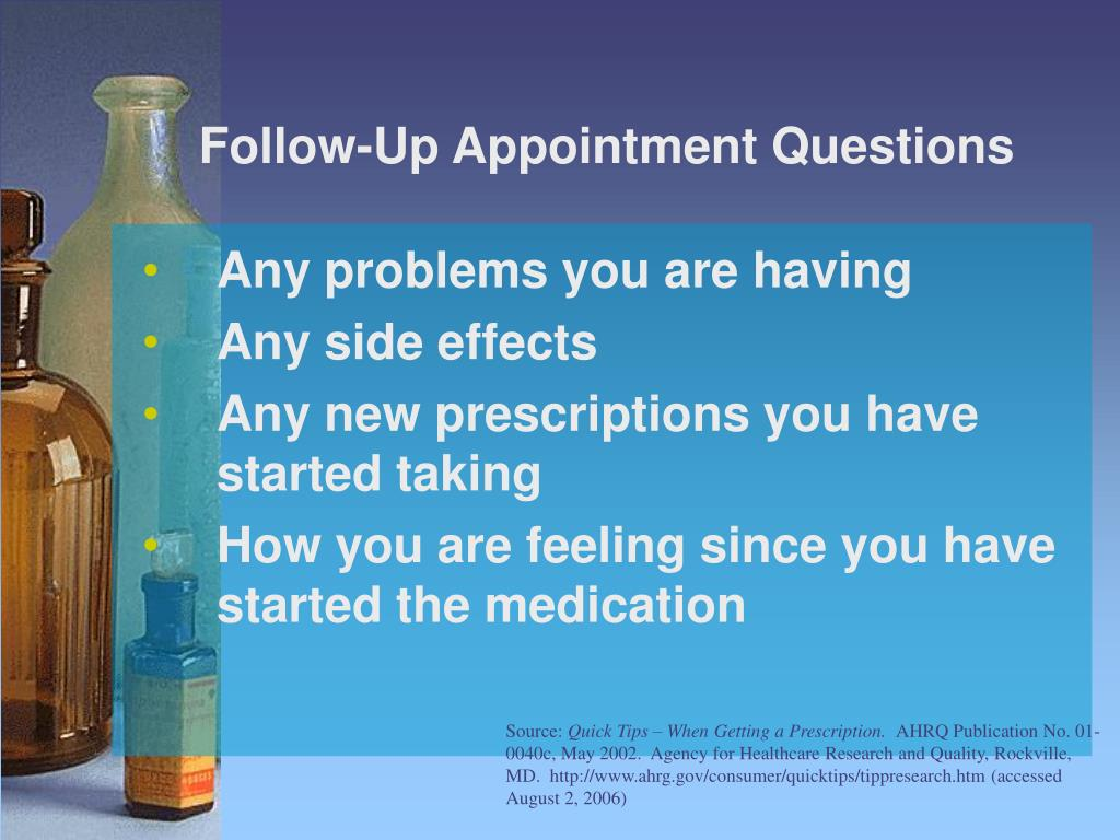 Follow-Up Appointment Questions