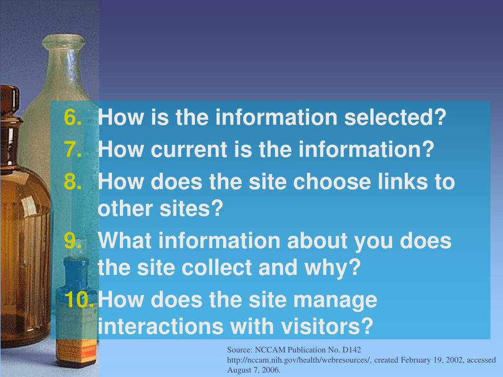 How is the information selected?