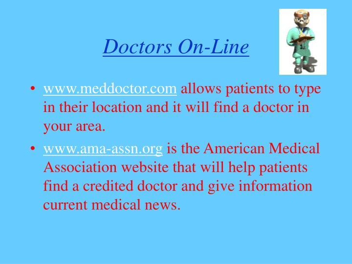 Doctors on line