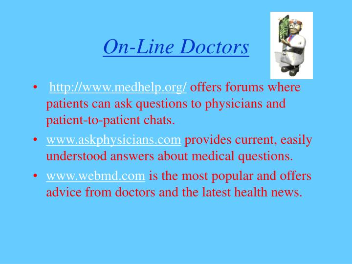 On line doctors