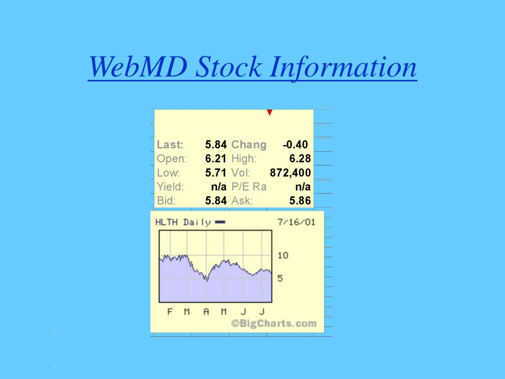 WebMD Stock Information