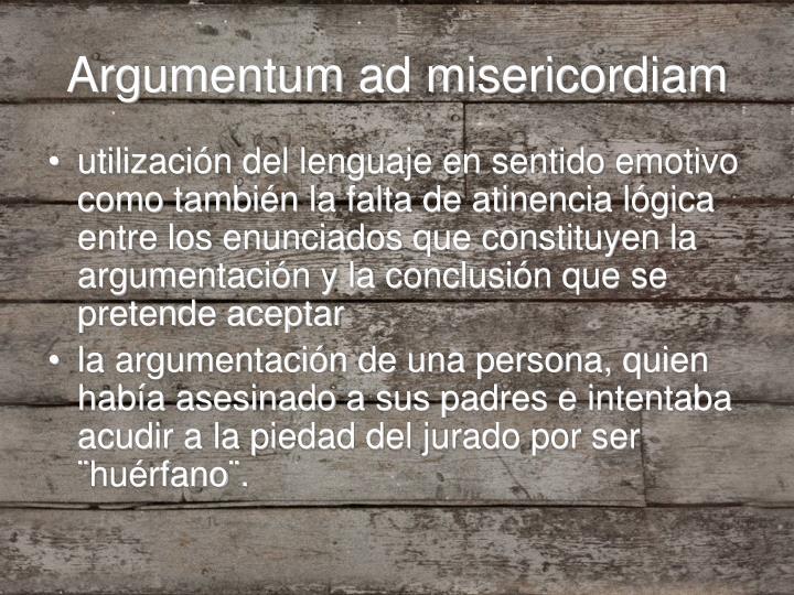 Argumentum ad misericordiam