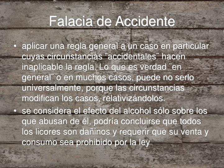 Falacia de Accidente