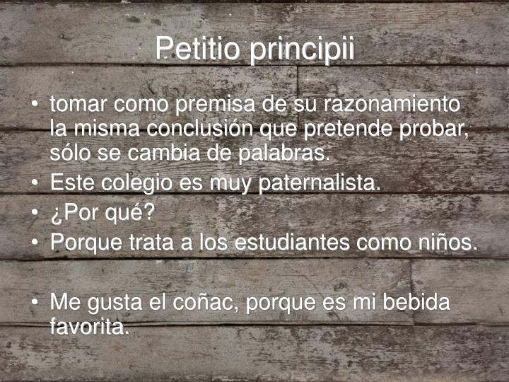 Petitio principii