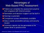 advantages of web based pro assessment