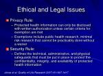 ethical and legal issues