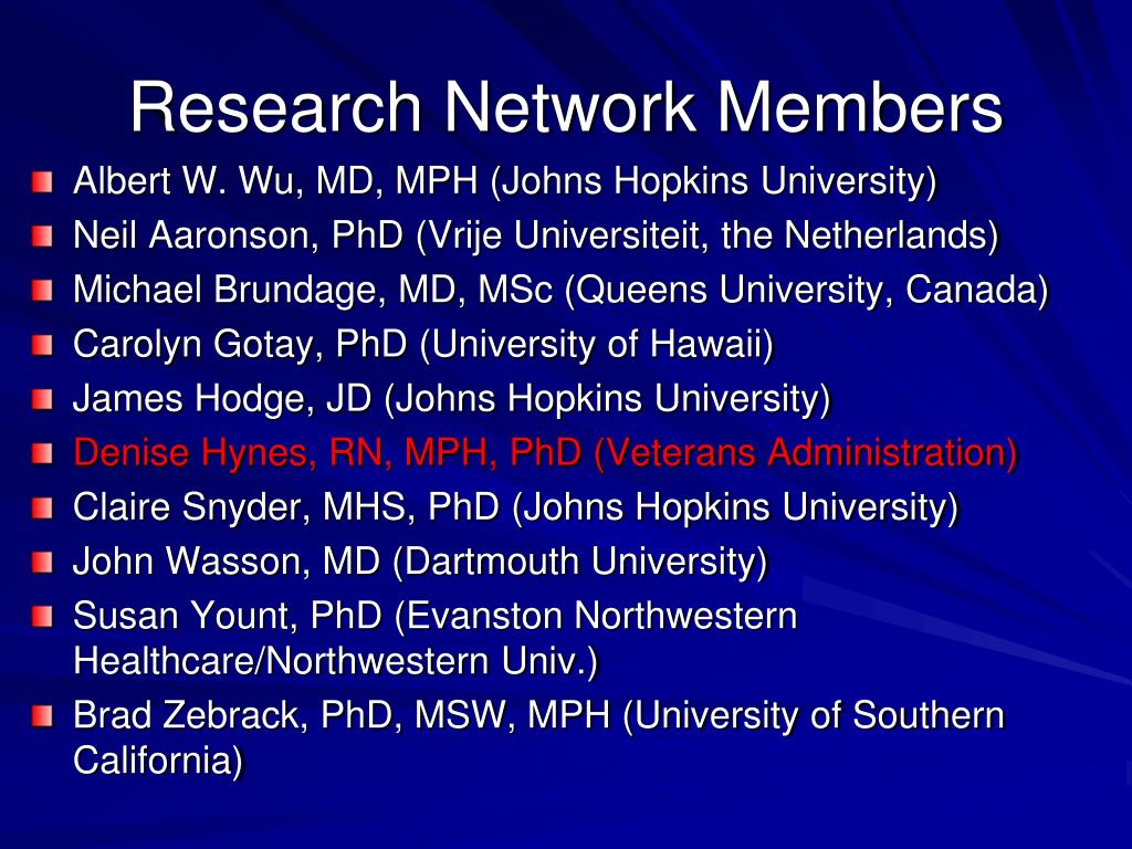 Research Network Members