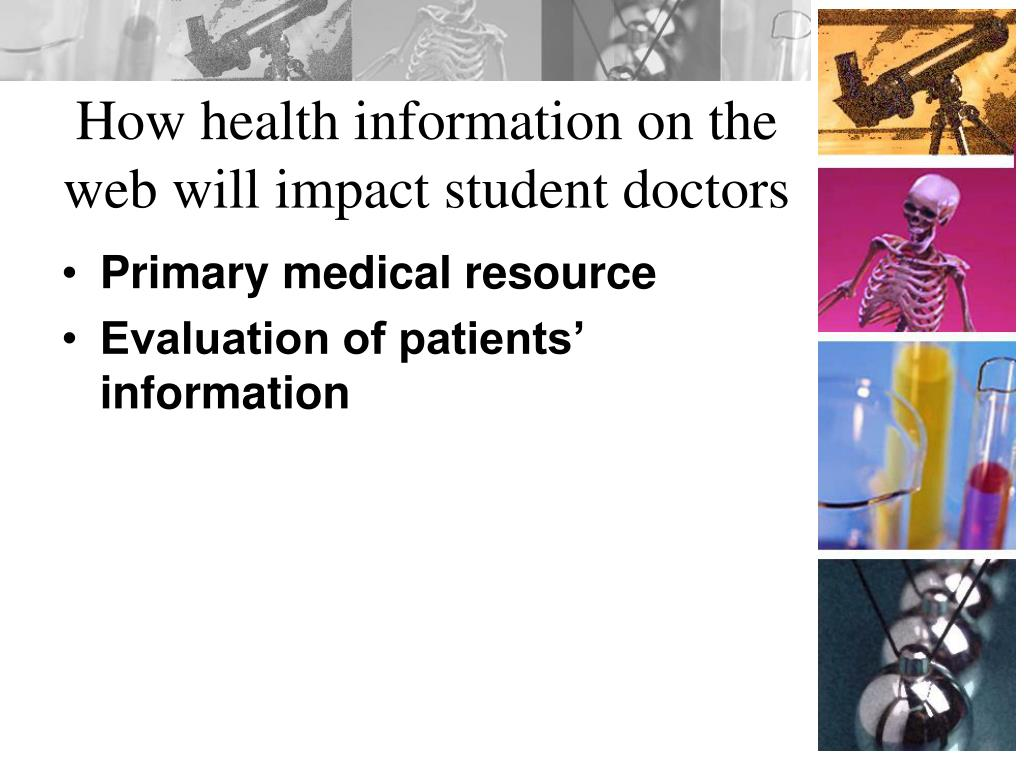 How health information on the web will impact student doctors